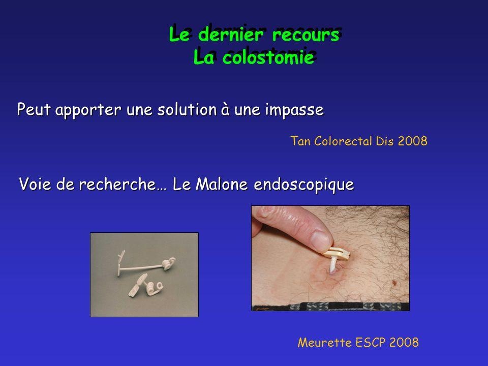 Le dernier recours La colostomie