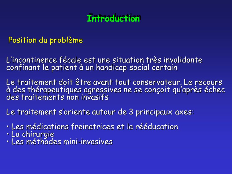Introduction Position du problème