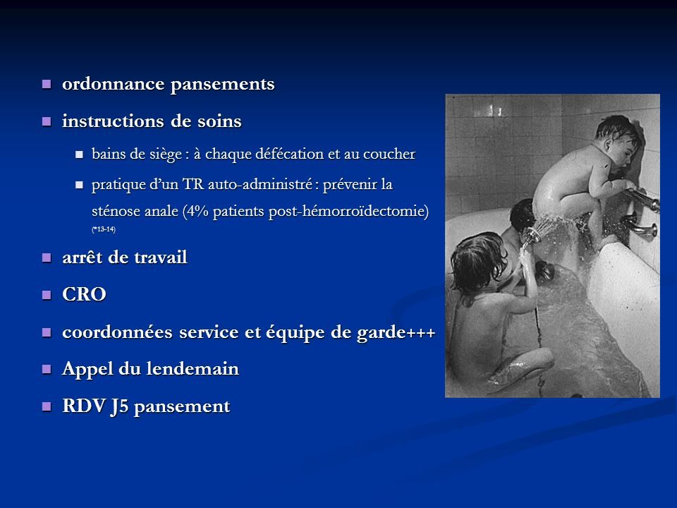 ordonnance pansements instructions de soins