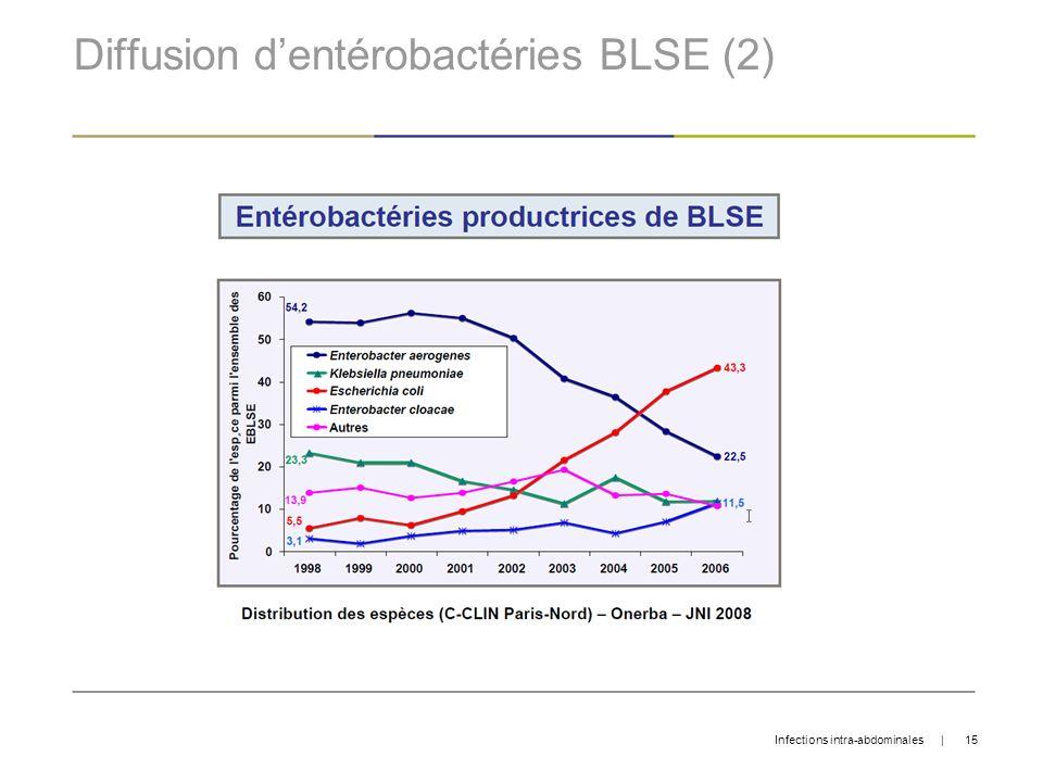 Diffusion d'entérobactéries BLSE (2)