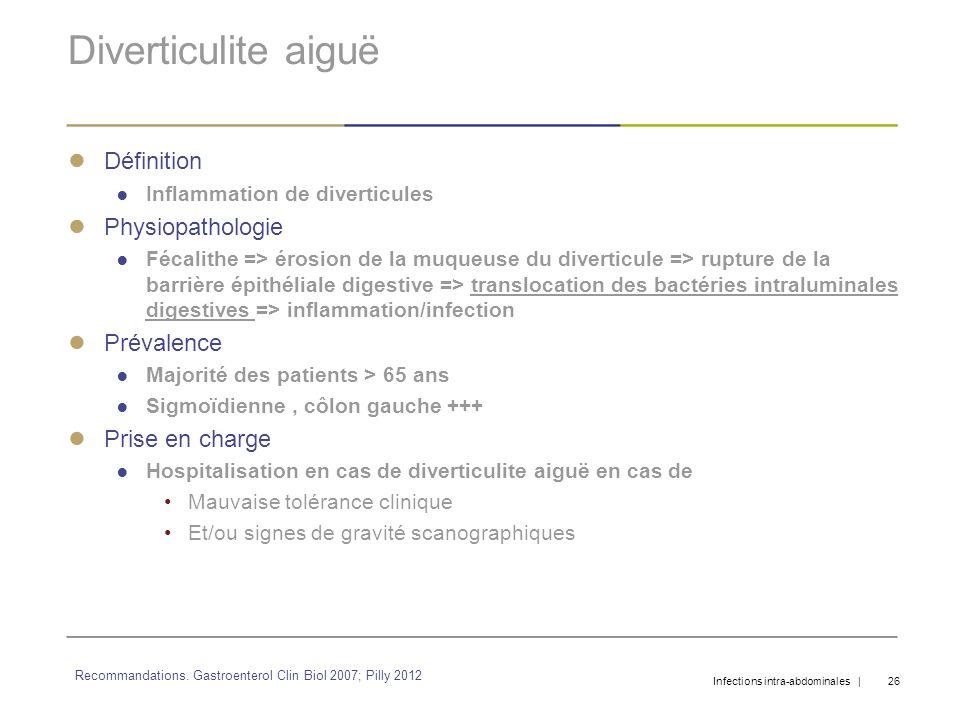Diverticulite aiguë Définition Physiopathologie Prévalence