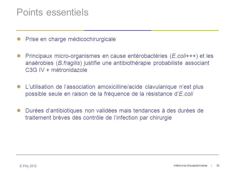 Points essentiels Prise en charge médicochirurgicale