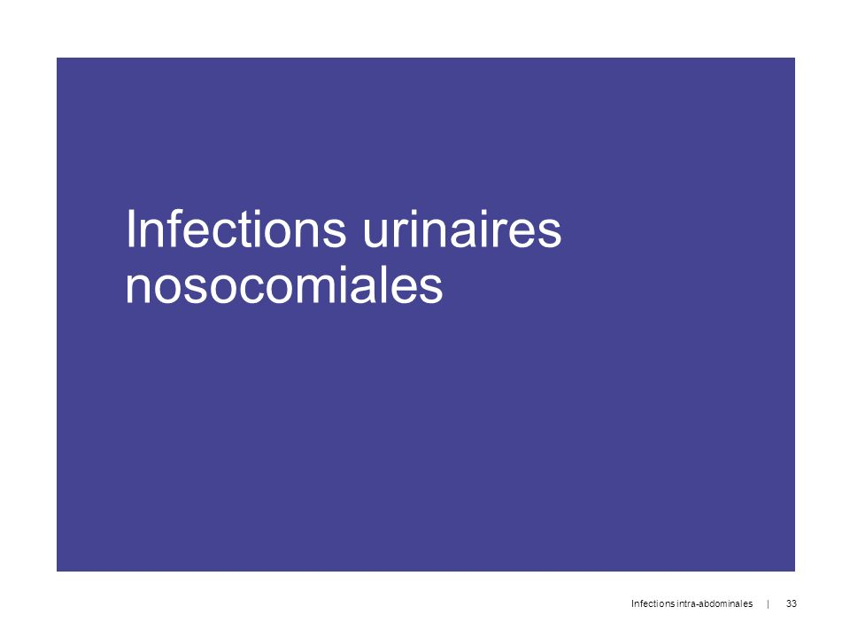 Infections urinaires nosocomiales