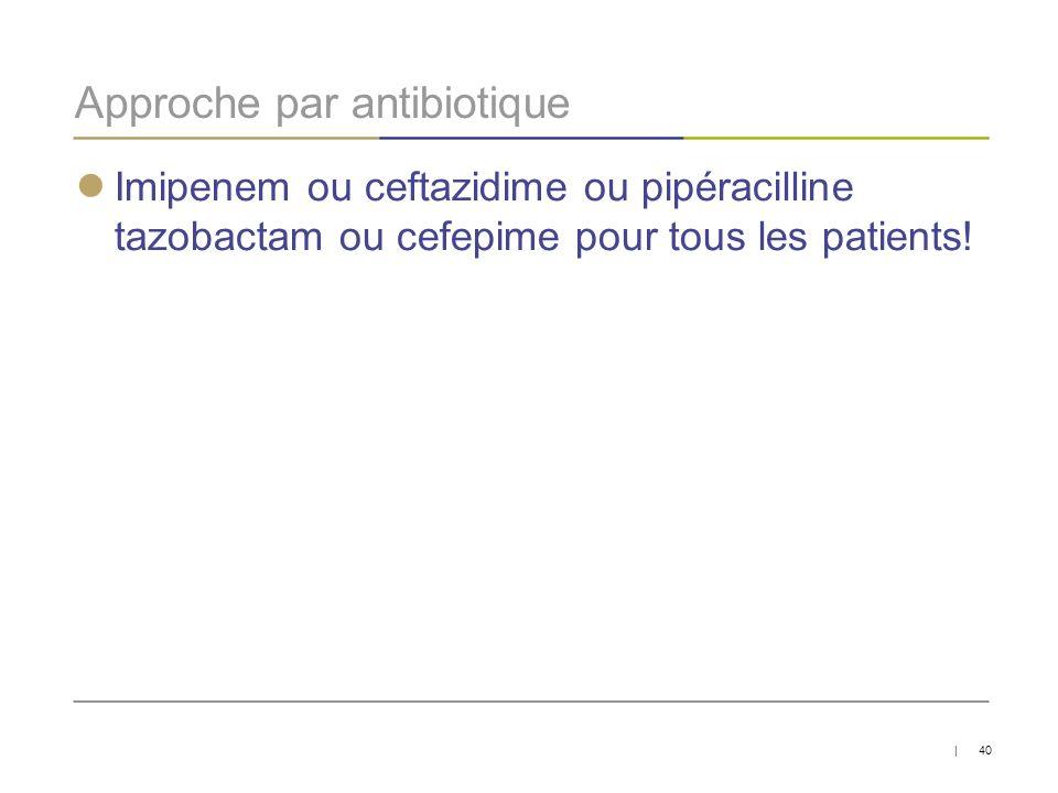 Approche par antibiotique