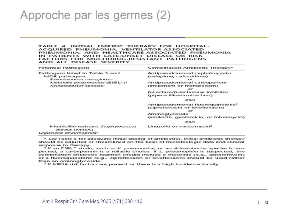 Approche par les germes (2)
