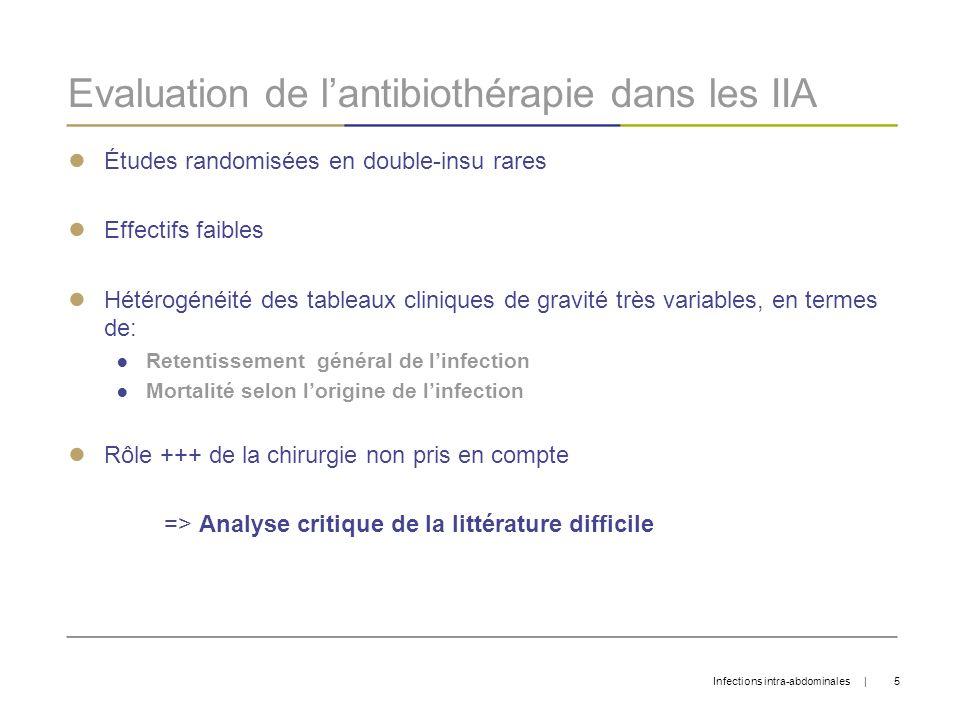 Evaluation de l'antibiothérapie dans les IIA