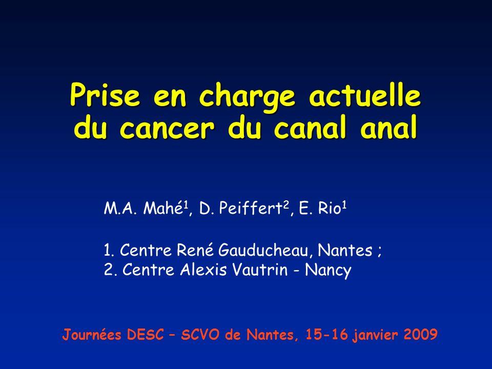 Prise en charge actuelle du cancer du canal anal