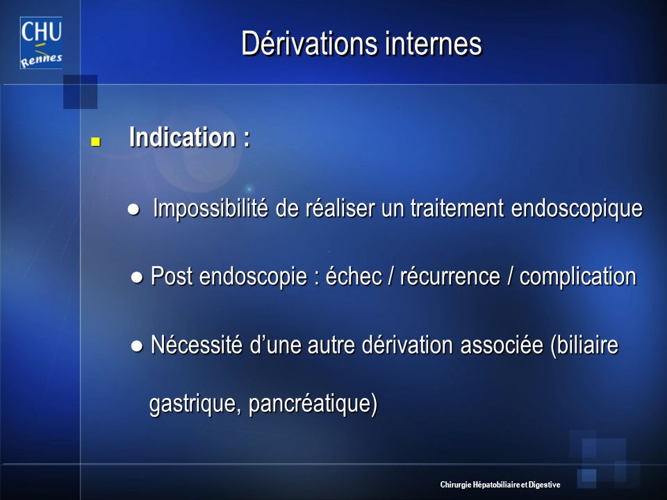 Dérivations internes Indication :