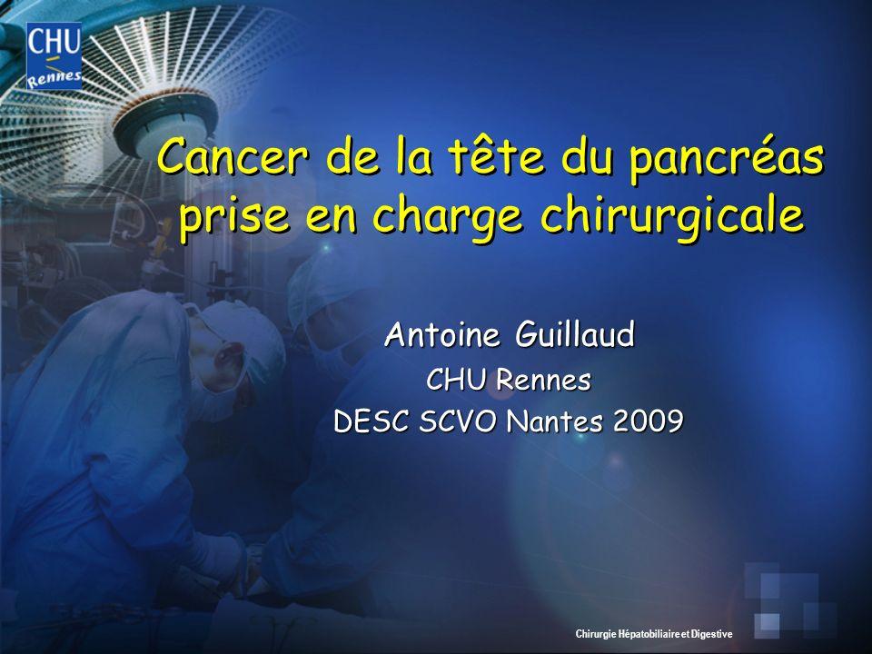Cancer de la tête du pancréas prise en charge chirurgicale