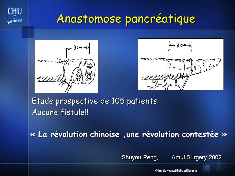 Anastomose pancréatique