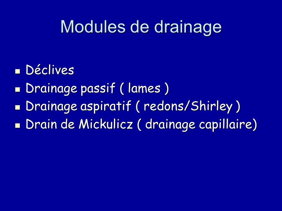 Modules de drainage Déclives Drainage passif ( lames )