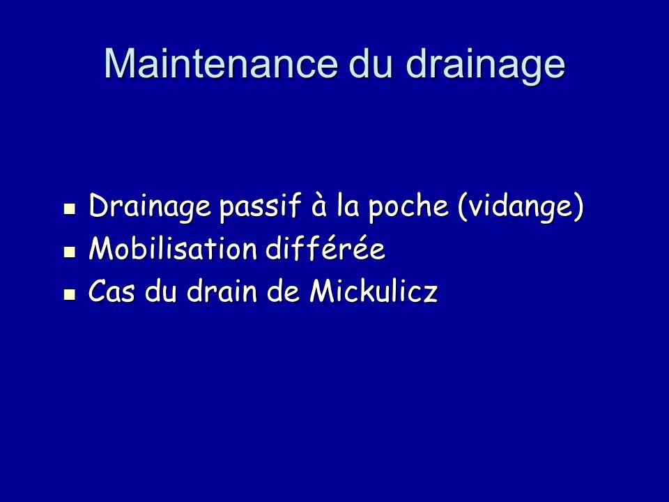 Maintenance du drainage