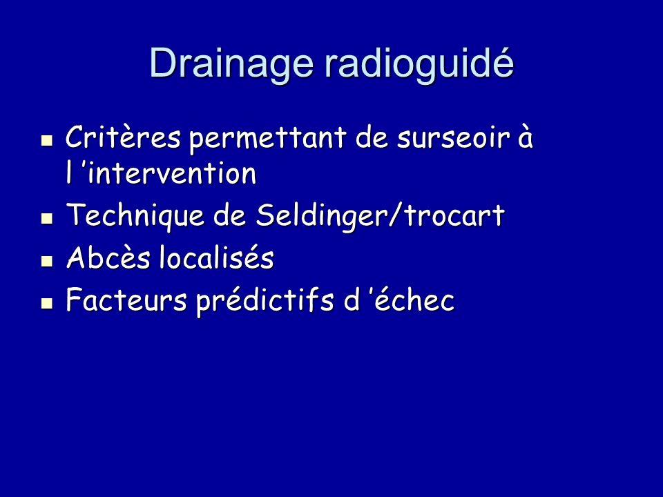 Drainage radioguidé Critères permettant de surseoir à l 'intervention