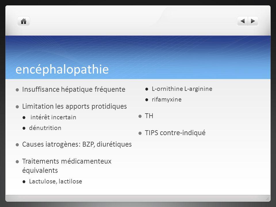 encéphalopathie Insuffisance hépatique fréquente