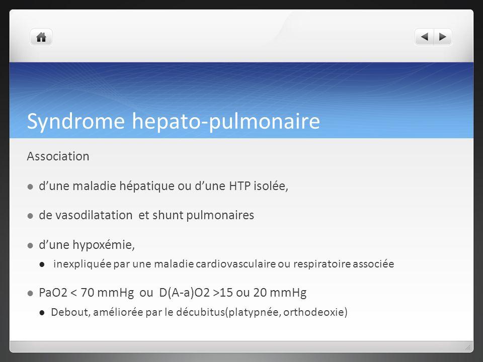 Syndrome hepato-pulmonaire