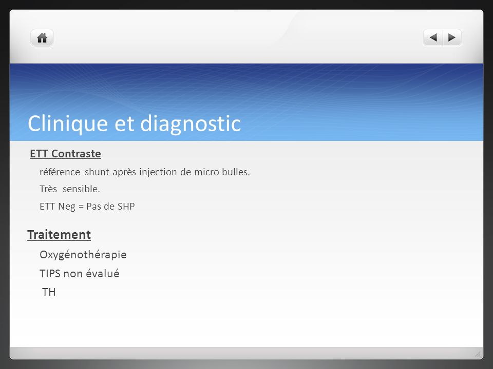 Clinique et diagnostic