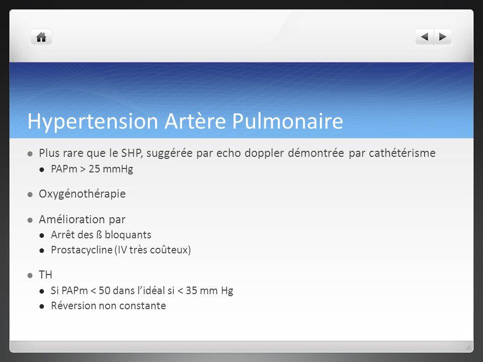 Hypertension Artère Pulmonaire