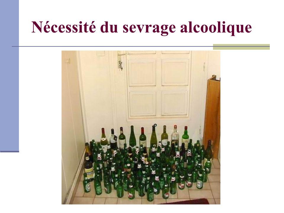 Nécessité du sevrage alcoolique