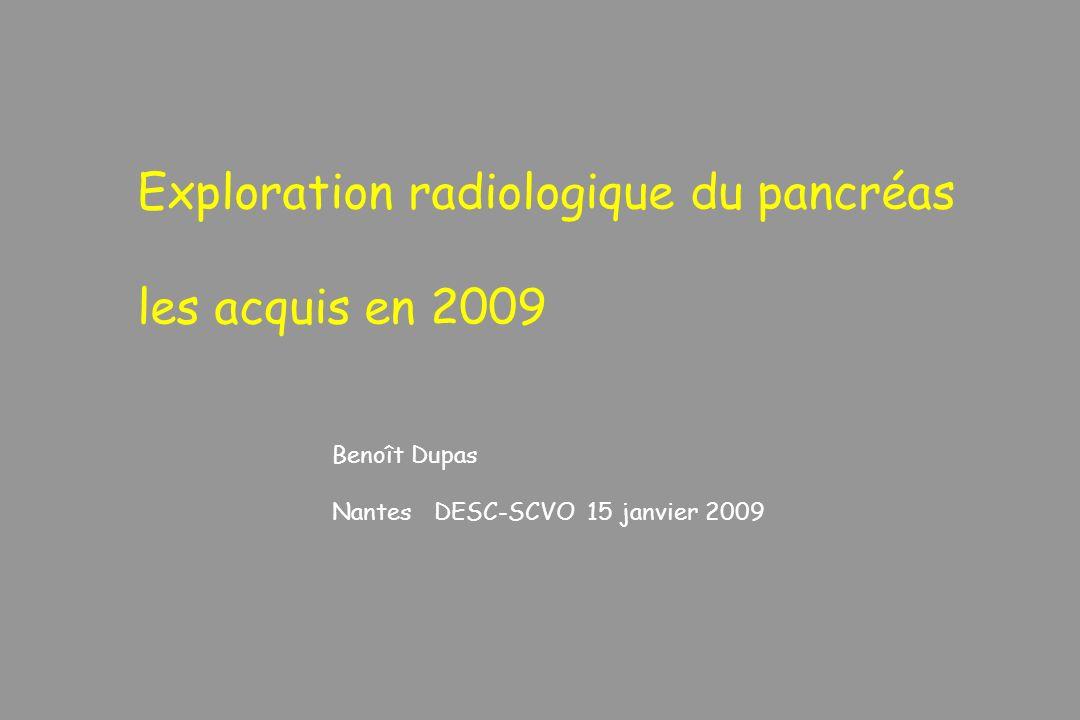 Exploration radiologique du pancréas les acquis en 2009