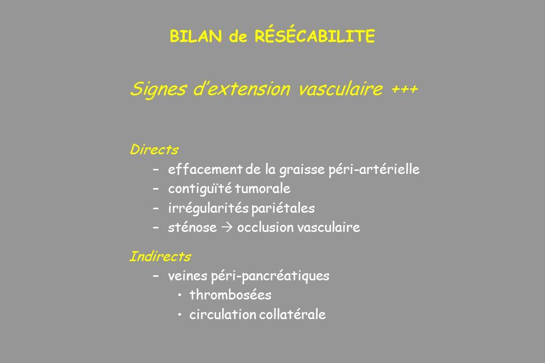 Signes d'extension vasculaire +++