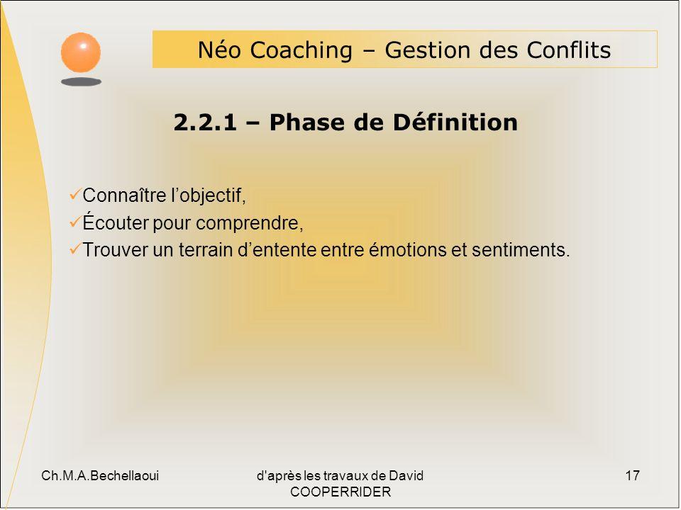 Néo Coaching – Gestion des Conflits