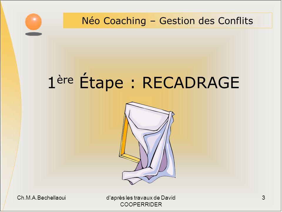 1ère Étape : RECADRAGE Néo Coaching – Gestion des Conflits