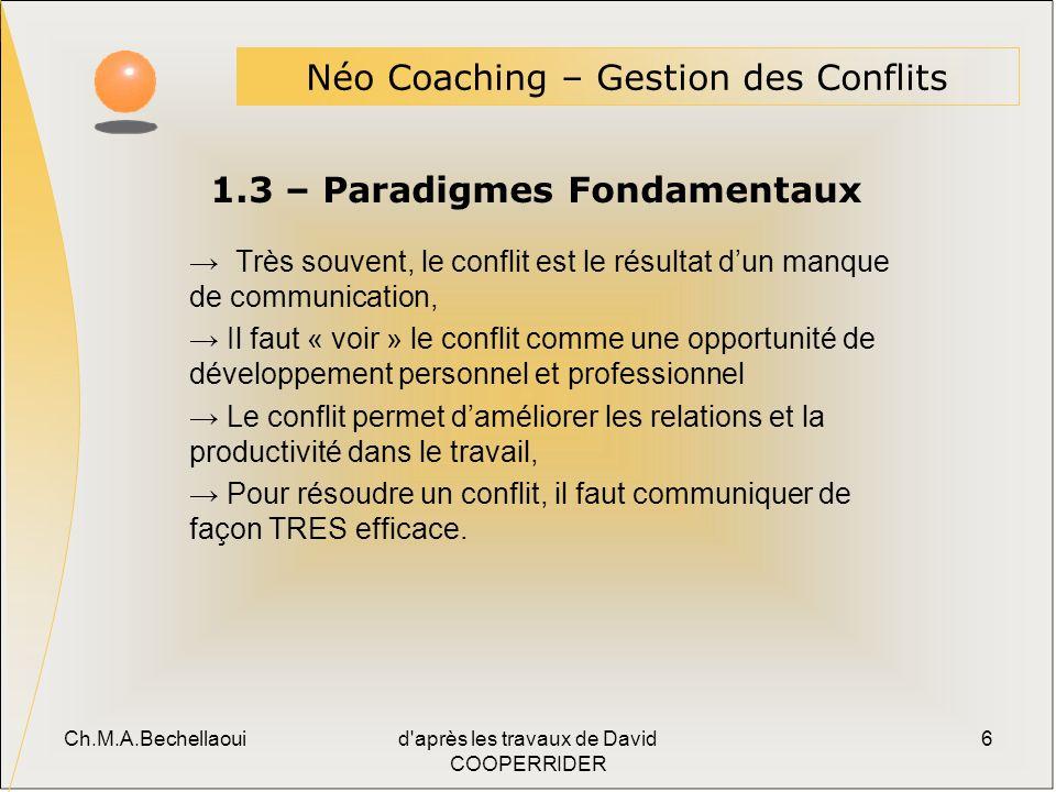 1.3 – Paradigmes Fondamentaux
