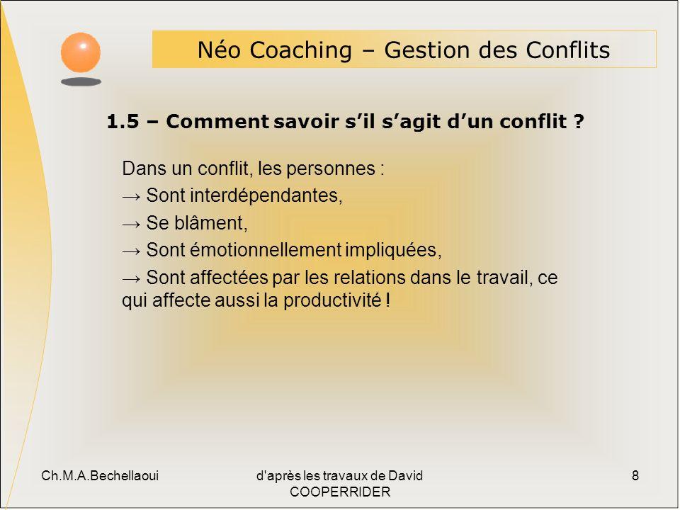 1.5 – Comment savoir s'il s'agit d'un conflit
