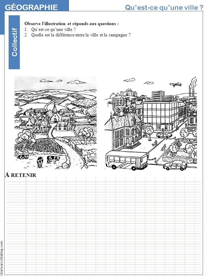 Géographie Qu'est-ce qu'une ville Collectif NOM A retenir