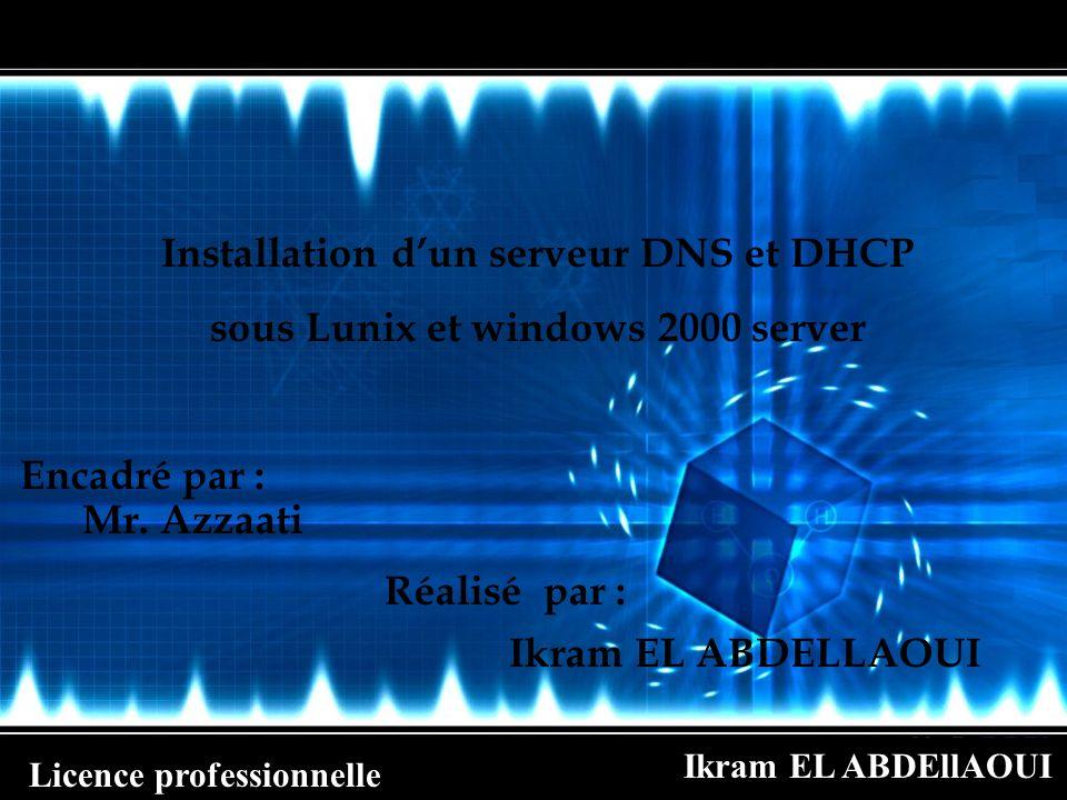 Installation d'un serveur DNS et DHCP
