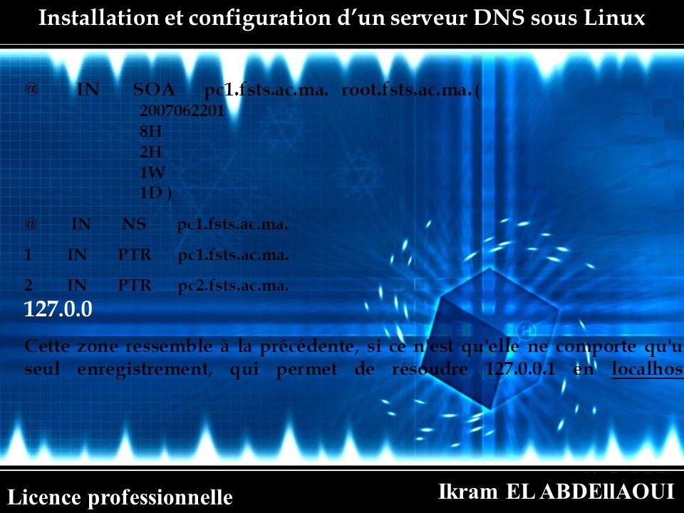 Installation et configuration d'un serveur DNS sous Linux