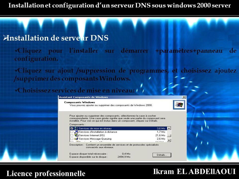 Installation de serveur DNS