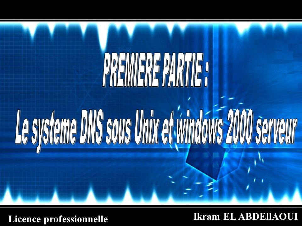 Le systeme DNS sous Unix et windows 2000 serveur