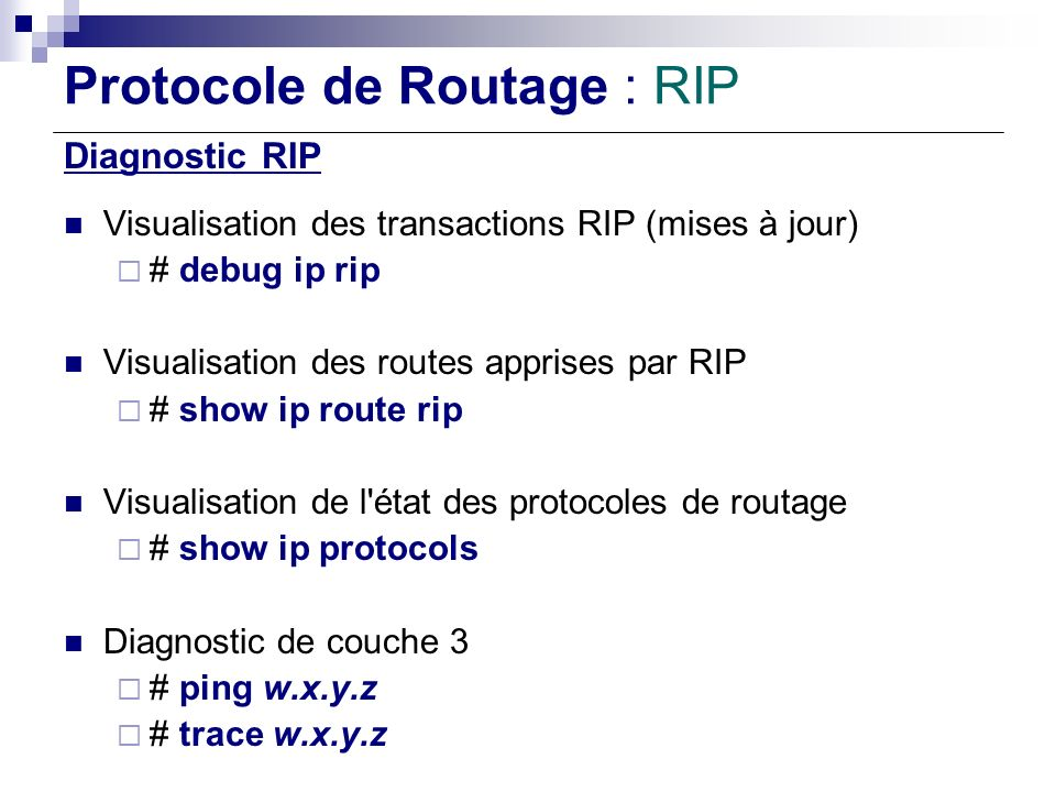Protocole de Routage : RIP