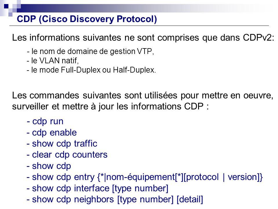 CDP (Cisco Discovery Protocol)