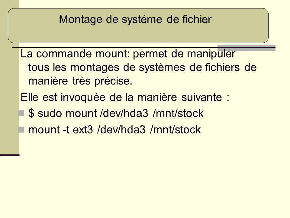 Montage de systéme de fichier