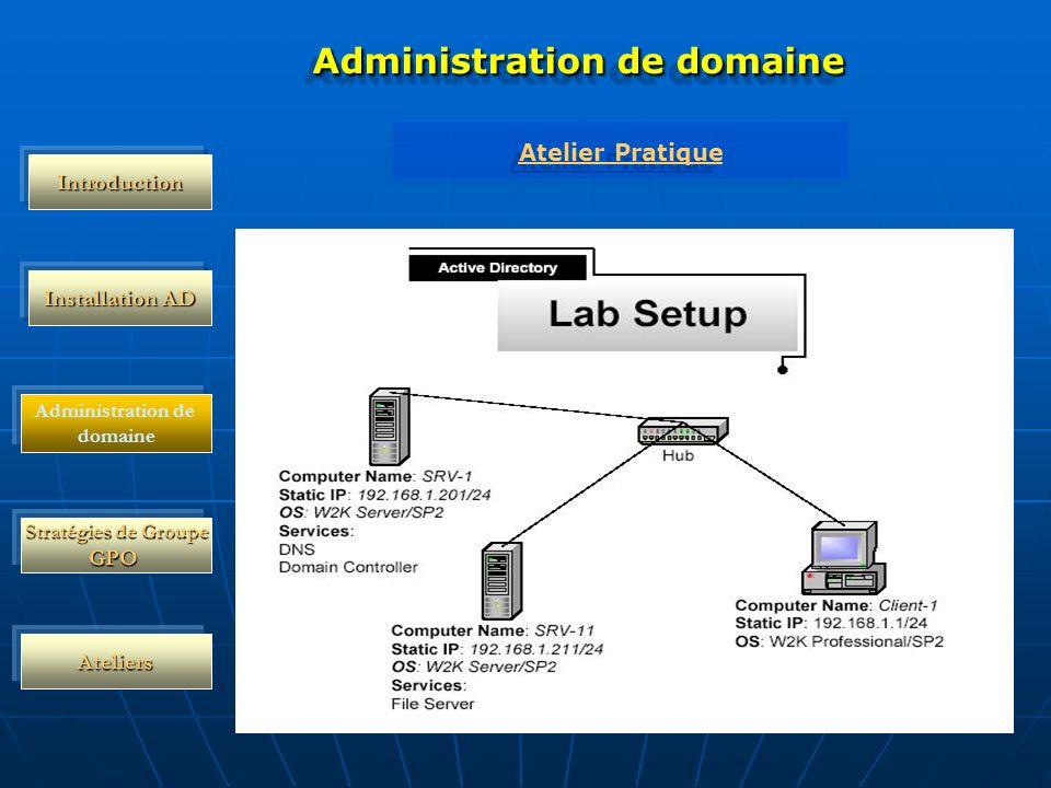 Administration de domaine