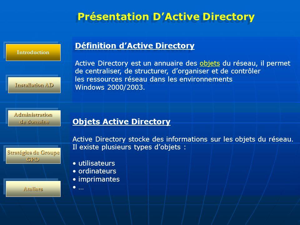 Présentation D'Active Directory
