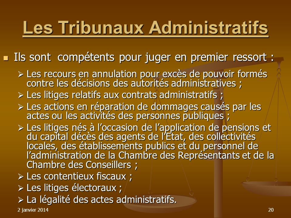 Les Tribunaux Administratifs