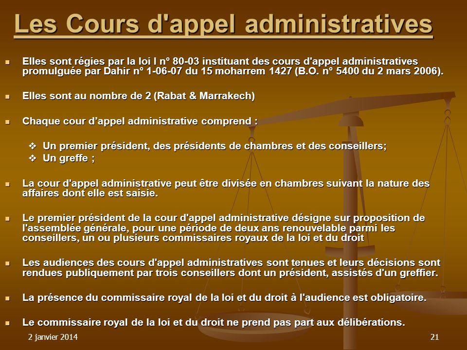 Les Cours d appel administratives