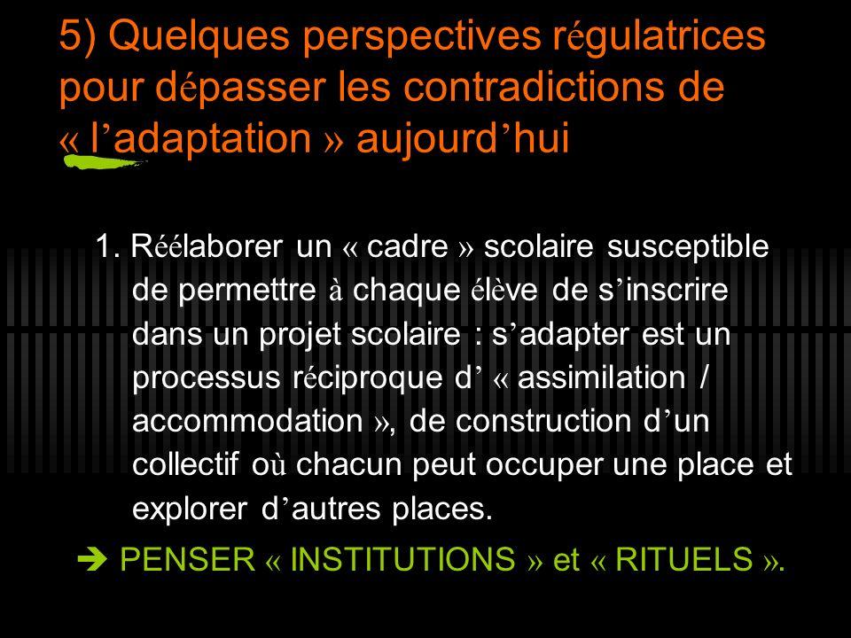 5) Quelques perspectives régulatrices pour dépasser les contradictions de « l'adaptation » aujourd'hui