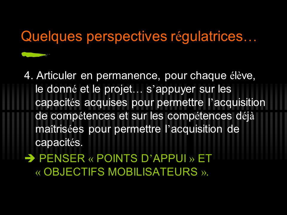 Quelques perspectives régulatrices…