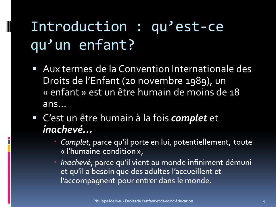 Introduction : qu'est-ce qu'un enfant
