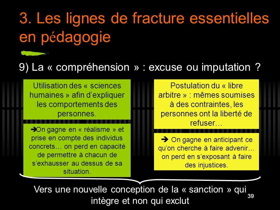 3. Les lignes de fracture essentielles en pédagogie