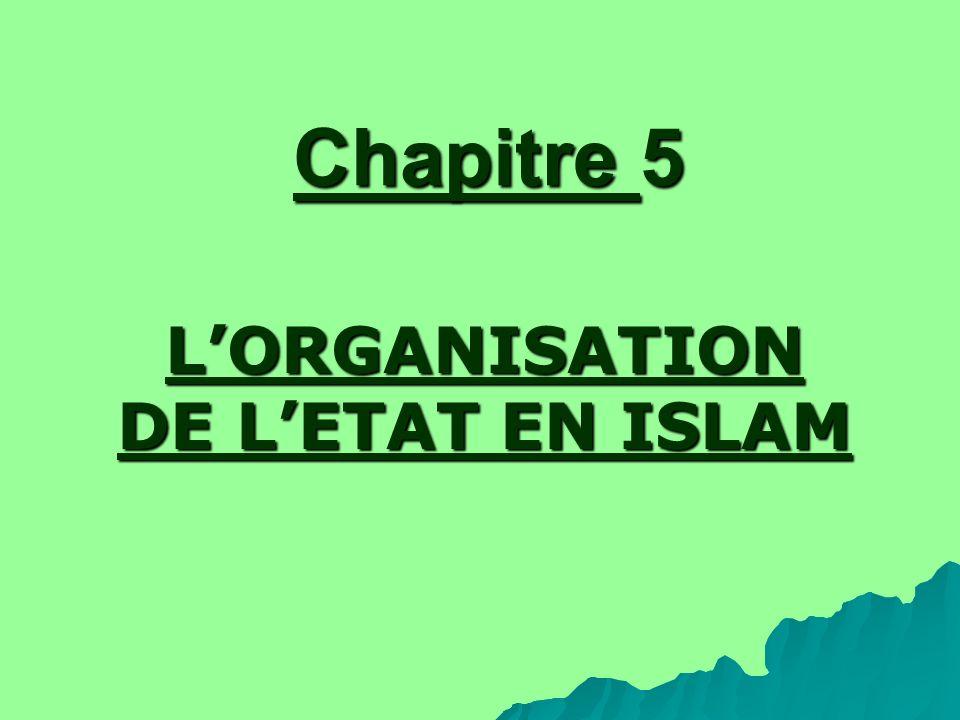 L'ORGANISATION DE L'ETAT EN ISLAM