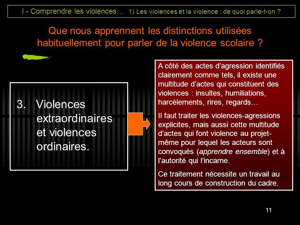 3. Violences extraordinaires et violences ordinaires.