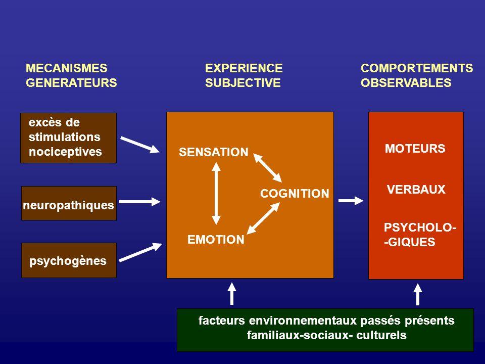 facteurs environnementaux passés présents familiaux-sociaux- culturels