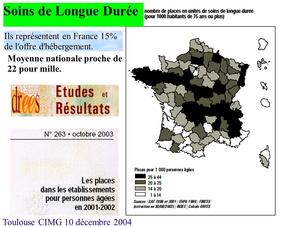 Soins de Longue Durée Ils représentent en France 15% de l offre d hébergement.