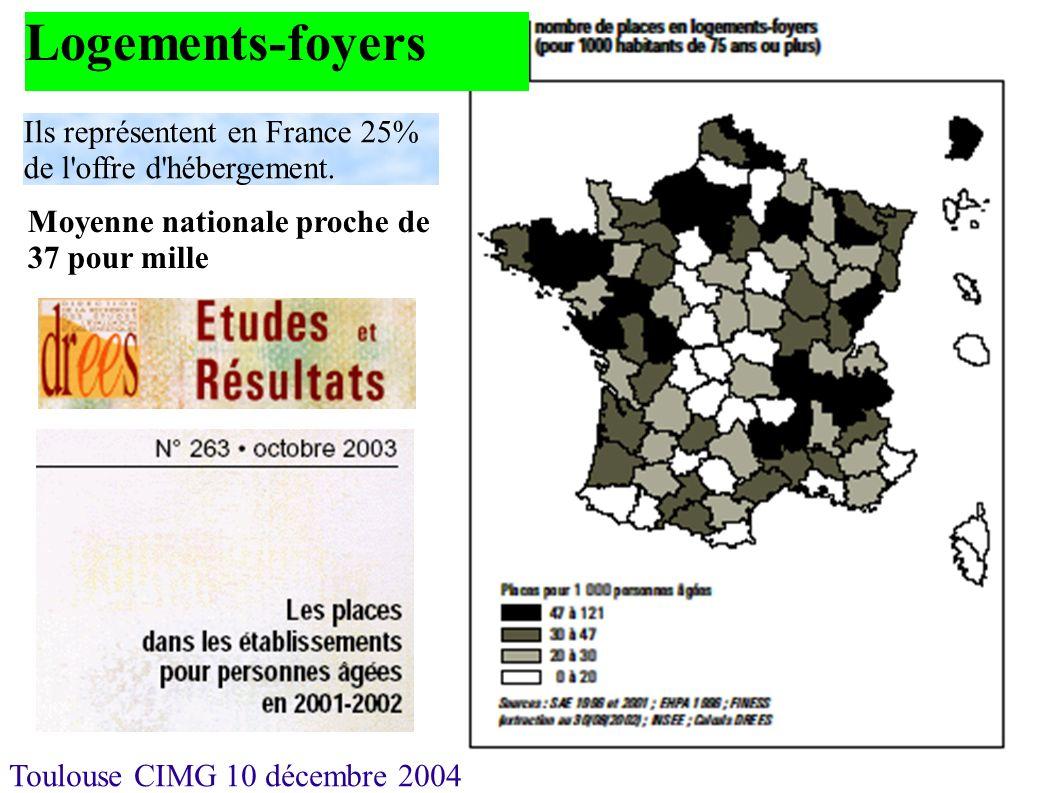 Logements-foyers Ils représentent en France 25% de l offre d hébergement.