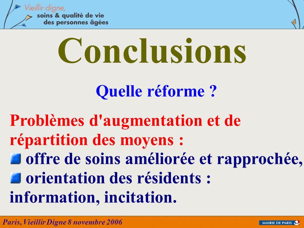 Conclusions Quelle réforme